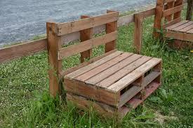 ogrodowe ławki z palet