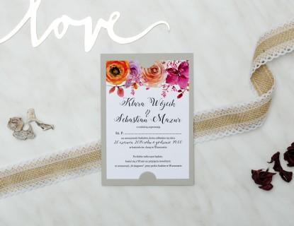 zdjęcie zaproszenia na ślub boho