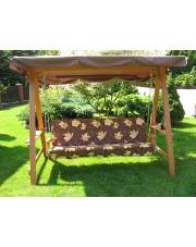 drewniana 4 osobowa huśtawka do ogrodu