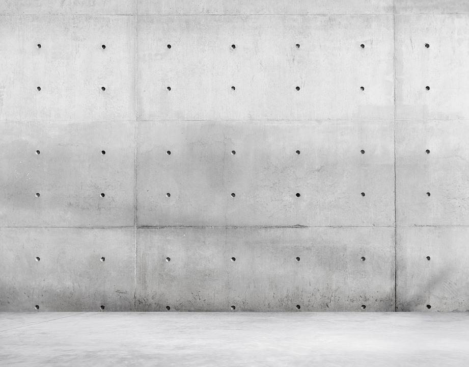 beton na ścianach